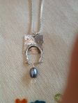 sterling and pearl pendant