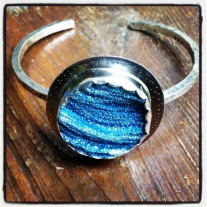 Beautiful, sparkly blue set in fine and sterling silver
